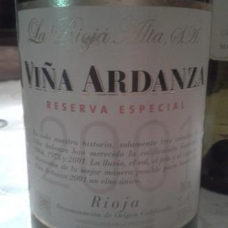 Viña Ardanza Reserva Especial 2001