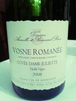 Vosne Romanée Juliette 2008