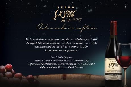 Convite - Lançamento Serra Wine Week
